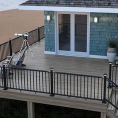 Deck Railing Kits, Composite Deck Railing, Deck Balusters, Deck Railing Design, Deck Stairs, Deck Design, Deck Railing Ideas Cheap, Hand Railing, Porch Railings