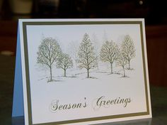 Handmade Christmas Card - Stampin Up Lovely As A Tree