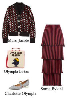 Fashion by bochkaevaa on Polyvore featuring polyvore, fashion, style, Marc Jacobs, Sonia Rykiel, Charlotte Olympia, Olympia Le-Tan and clothing