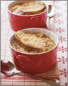 Parmesan-Onion Soup from Gooseberry Patch's book, Classic Christmas Recipes.