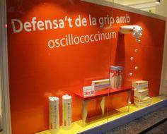 Escaparate de farmacia, producto de homeopatía, realizado por M.P Escaparatistas en Barcelona