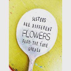 Stamped Garden Marker Garden Marker Sisters by SweetThymeDesign