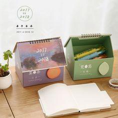 Cute cartoon desk calendar 2017 2018 van gogh House modeling Storage calendar Creative Desktop Calendar kawaii-in Calendar from Office & School Supplies on Aliexpress.com | Alibaba Group