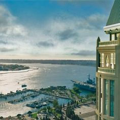 Spectacular view 40 stories above San Diego Bay. #TopOfTheHyatt