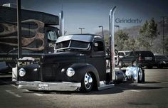 Badass old semi truck