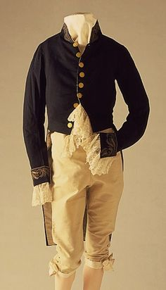 19th Century Gentlemen Clothes -- you can tell where the modern suit comes from by looking at this.