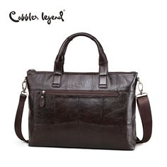 Cobbler Legend Brand New Men's  Briefcase Bags Genuine Leather Bag Male Crossbody Bags Leather For Laptop Man Big Business Bag
