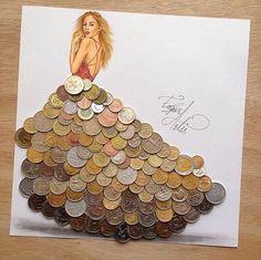 Arte desenho moedas