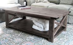 Ana White --- How to build a rustic coffee table
