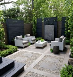 Backyard Landscaping Modern Backyard Design, Small Backyard Patio, Modern  Courtyard, Paved Backyard Ideas