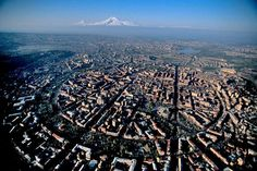 An aerial view of Yerevan, Armenia. It's an architectural treasure.