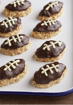 Crispy Football Treats -- This dessert recipe would be a hit with the home team just for their flavor. But you'll get props on game day for shaping them like footballs.