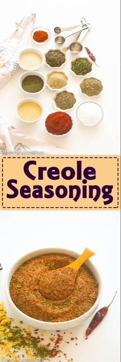 Creole Cajun Seasoning-A must have cajun seasoning that adds boldness and extra flavor to any dish. Everything you need is in your spice pantry, quick to put together and can be easily customized for personal preference. Rub Recipes, Cajun Recipes, Cooking Recipes, Cajun Food, Oven Recipes, Creole Seasoning, Seasoning Mixes, Gyro Seasoning, Cajun Seasoning Recipe