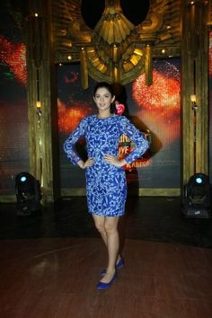 hot kerala aunties: Deeksha Seth Looks Sexy In Blue Skirt At Film 'Lekar Hum Deewana Dil' Promotions On The Sets Of Reality Show 'Entertainment Ke Liye Kuch Bhi Karega' In Mumbai-9 masala stills