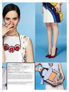 ES magazine colour block story styled by Sophie Paxton