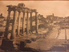"""1915 Antique albumen panoramic Photograph of the ROMAN FORUM Ruins In Rome Italy - very rare Measures 40"""" long x 18"""" wide mounted on original board Great condition no tears , always been under glass, slight age and discolor no fading - see all the pics - great price Shipped fast with free tracking and insurance Check out our other rare antiques and items and perfect feedback eBay seller since 1999 