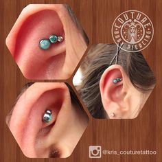 Fresh faux rook from the other day with a 3arch cluster from @anatometalinc #couturetattoo #couturebodypiercing #anatometal #cantonoh #legitbodyjewelry #piercings (at Couture Tattoo & Body Piercing)