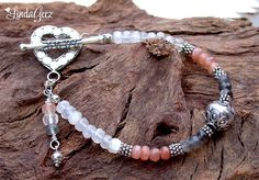 Lots of lovely jewelry in my shop for your Valentine's girl! Shades of Moonstone Bracelet by LindaGeez by LindaGeez on Etsy