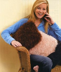 Furry Pillow - easy and fun. You can make the pillow larger also.