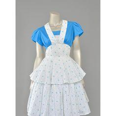 60s Party Dress • Blue White Floral Dress & Bolero Jacket • 1960s Dress • Fit and Flare Tier Dress • Floral Sundress • 60s Dress (XS/S Small)  #vintage #fashion #style #womens #etsy #dresses #sundresses
