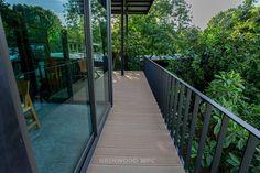 moderate price anti-slip wood plastic composite   wpc deck