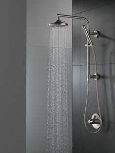The best shower head is necessary for a wonderful, cleansing shower. Enjoy the benefits of a top quality shower head that meets every one of your requirements by browsing through our hundreds of . Read Shower Heads Ideas You Will Love Bathroom Shower Faucets, Master Bath Shower, Shower Fixtures, Shower Tub, Bath Tub, Bathroom Tapware, Rainfall Shower, Bathroom Ideas, Bathrooms