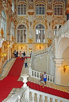 The Jordan Staircase in Russia's Winter Palace.  Saint Petersburg, Russia