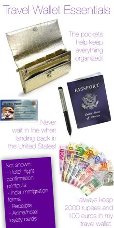 What to keep in your travel wallet #traveltips #wallet #travel