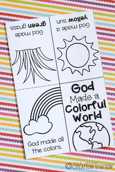 Free printable book for teaching colors bible crafts воскрес Toddler Bible Lessons, Preschool Bible Lessons, Preschool Sunday School Lessons, Primary Lessons, Preschool Worksheets, Religion Activities, Church Activities, Youth Activities, Sunday Activities
