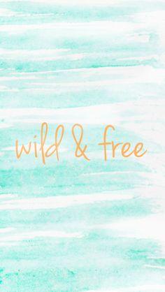 Wild & Free Watercolor Phone Wallpaper | Summer Designs