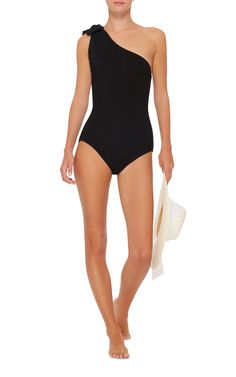 Melika Bow Asymmetric One Piece Swimsuit by ARAKS Now Available on Moda Operandi