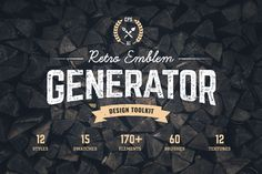 retro emblem generator_the retro design toolbox #retro #vintage #design