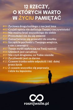 12 rzeczy, o których warto w życiu pamiętać.  #rosnijwsile #blog #motywacja #rozwój #sukces #siła #myśli #pieniądze #lifehack #psychologia #lifehack #inspiracja #marzenia #umysł #szczęście #życie Determination Quotes, Bullet Journal Ideas Pages, Great Life, Life Motivation, Self Development, Inspirational Quotes, Motivational Quotes, Better Life, Self Improvement