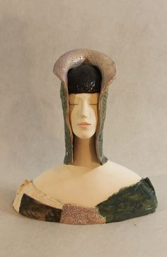 ImagoArtDesign by ImagoArtDesign Asian Hair Ornaments, Tamara Lempicka, Sculpture Art, Ceramic Sculptures, Feathered Hairstyles, Art Object, Pottery Art, Ceramic Art, Art Dolls