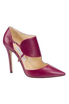 Jimmy Choo Fall 2014 - freaking amazing cherry pink high heel shoes! I'm in love. www.missKrizia.com