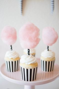 Candy Theme Birthday Party, Candy Birthday Cakes, Carnival Birthday Parties, Cupcake Party, Birthday Cupcakes, Party Cakes, Cupcake Cakes, Cupcake Toppers, Cotton Candy Cupcakes