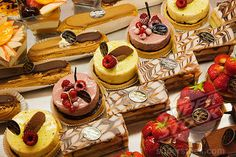 French Patisserie Desserts | French pastries in a bakery, Paris, France