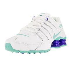 timeless design 7ca07 9d1a6 Nike Women s Shox Nz White Hyper Turq Racer Blue Running Shoe