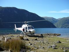 Helicopter in to Dusky Sound