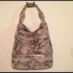 New Via Spiga Hobo bag Stunning! Large Via Spiga hobo style bag. Embossed Python, very roomy, lots of pockets! Via Spiga Bags Hobos