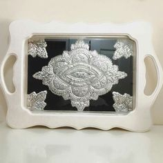 . Metal Working, Pewter, Tray, Crafts, Design, Decor, Tin, Old Photography, Emboss