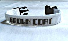 Brown Coat Bracelet Cross Stitch Wrist by SnarkyLittleStitcher, $7.50