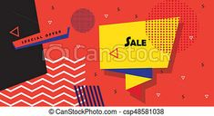 Sale modern art banner drawings - Search Clipart, Illustration, and EPS Vector Graphics Images - csp48581038
