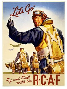 Fly & Fight with the RCAF. #vintage #Canada #1940s #WW2
