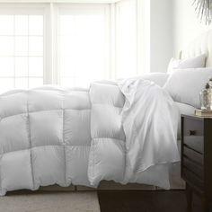 Full / Queen size White Medium Warmth Designer Down Alternative Comforter