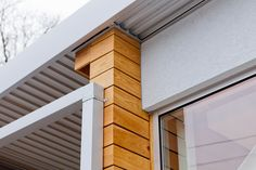 Cypress Rainscreen to soffit detail - Asheville NC || Form & Function Architecture