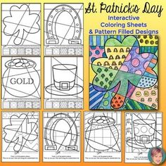Patrick's Day Coloring Pages Coloring Pages, Coloring Sheets, St Patrick Day Activities, Crafts For Kids, Arts And Crafts, Art Cart, First Art, Writing Prompts, St Patricks Day