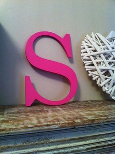 Wooden Wall Letter  Hand-Painted  Roman Font  S by LoveLettersMe