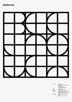 Beethoven : love this retro looking geometric type typography Layout Design, Graphic Design Layouts, Print Layout, Graphic Design Illustration, Typography Inspiration, Graphic Design Inspiration, Geometric Type, Weird Words, Grafik Design