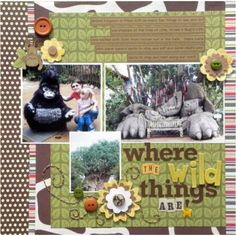 Where the Wild Things Are Zoo scrapbook layout